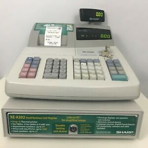 Sharp Xe a202 Electronic Cash Register W Manager Key