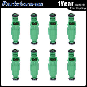 8pcs 0280150558 42lbs Racing Fuel Injector 440cc Ev1 Turbo For Ford Chevy Bmw