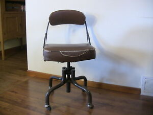 Vintage Domore Industrial Swivel Desk Chair Modern Rustic Decor 1940s Office