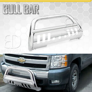 2015 2018 Chevy Colorado W Skid Plate 3 Round Bull Bar Front Bumper Grill Guard