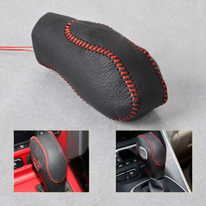 At Leather Gear Shift Knob Cover For 2012 2013 Ford Focus 3 2014 15 Kuga Escape
