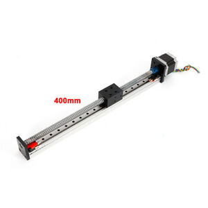 Cnc Linear Bscrew Slide Guide Rail Motion Nema23 Motor 2 Limit Switches 400mm
