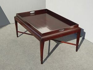 Vintage Hand Planed Solid Mahogany Tray Coffee Table Retails For 2999 By Baker