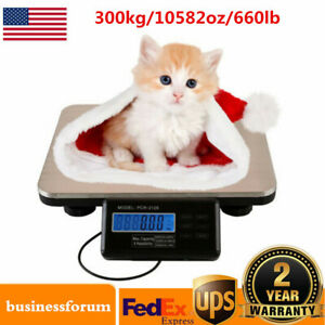 Lcd Digital Floor Bench Platform Scale Weight Shipping Postal Pet Scale 300kg