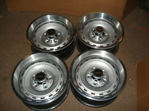 Set 1973 87 Chevy Gmc Truck Suburban Van 5 Lug Rally Gm Steel Wheels