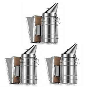 Little Giant Beekeeping Smoker 3 pack Stainless Steel Suede Leather Bellows
