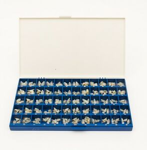 3 X Polycarbonate Temporary Dental Crowns Box Kit 180 Pcs With Paper Guide Chart