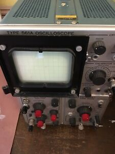 Vintage Tektronix Type 561b Oscilloscope With Types 2b67 3a72 Plug ins