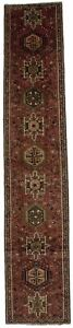 Narrow Oversized Runner Vintage Gharajeh Persian Rug Oriental Area Carpet 3x14