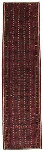 Fascinating Vintage Hossainabad Runner Persian Rug Oriental Area Carpet 3 5x13 2