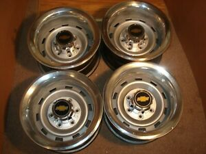 73 87chevy Truck 6 Lug 15x8 Gm Oem Truck Rally With Caps Rings