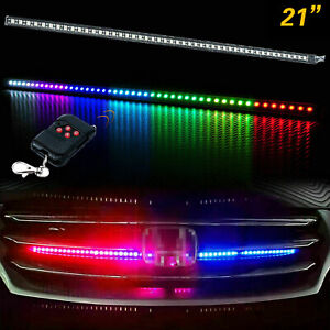 24 Rgb Led Knight Rider Strip Scanning Light Behind Grill For Chevy Trucks