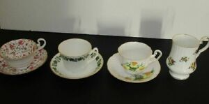Lot Of 4 Vintage China Tea Cups England