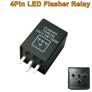 4 Pin Ep29n Led Flasher Relay Fix For Chevy Led Turn Signal Lamps Hyper Flash