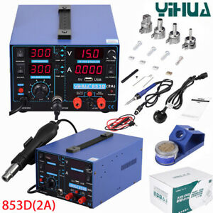 Yihua 853d 220v Soldering Station 3 In 1 Smd Soldering Iron Air Gun Welding Tool