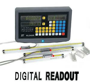2 Axis Digital Readout Precision Linear Glass Scale Dro Display Kit Milling Edm