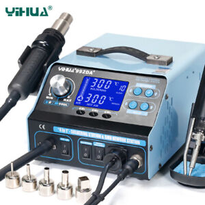 Yihua 992da 220v Eu Soldering Station Repair With Hot Air Gun Soldering Iron
