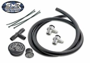 Deviant Pcv Re route Kit For 2004 5 2010 Chevy gmc 6 6l Duramax Lly Lbz Lmm