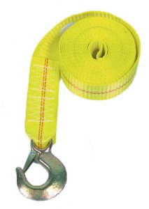 Rod Saver Heavy Duty Replacement Winch Strap 25 Feet Yellow