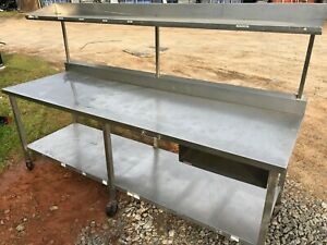 Commercial 96 X 30 Stainless Steel Food Work Table Bottom Shelf