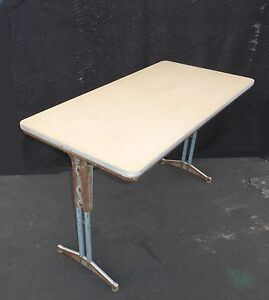 Vintage Industrial Library Table Desk By American Seating Corporation