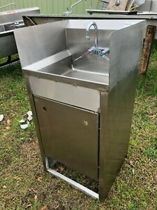 Win holt Stainless Steel 21 X 20 Floor Heavy Duty 1 Compartment Wash Sink Nsf