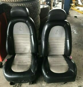 2001 Ford Mustang Cobra Front Seat Pair Bucket Seats Leather W Sport Type
