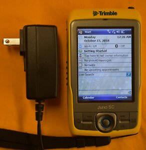 Trimble Juno Sc Handheld Gps Data Collection Pda Gis Bluetooth Wifi Very Clean