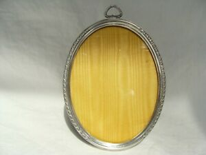 Vintage Webster Sterling Silver Easel Back Photo Picture Frame Oval 4 X 3