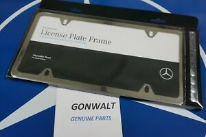 Q6880005 Mercedes Benz Oe Factory Polished Stainless License Plate Frame