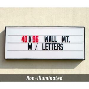 Wall mount portable Sign 96 X 40 Not Lighted