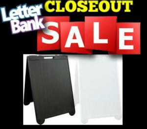 Closeout On Poly1 Sidewalk Sign Framess