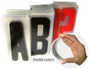6 Acrylic Letter Set For Portable Lighted Advertising Signs