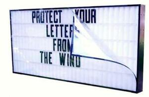 Wind Protector Letter Guard For 40 X 96 Economy Signs