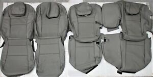 Fits 2016 2018 Honda Pilot Lx Factory Gray Leather Upholstery Seat Cover Set New