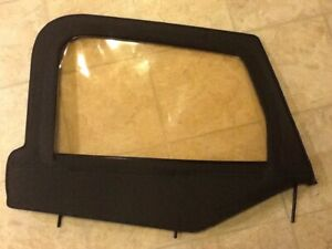 Oem 1976 1995 Right Front Jeep Wrangler Cj Yj Upper Door Half Window Soft Top
