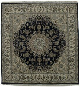 Classic Vintage Nain Style Square 6x6 Indian Area Rug Oriental Home D Cor Carpet