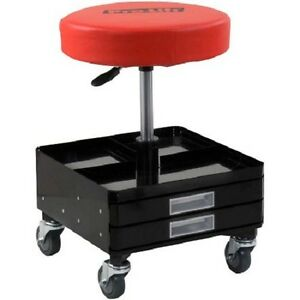 Creeper Seat Stool Mechanic Chair Wheel Rolling Tool Tray Swivel Caster Shop Car