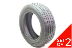 Set Of 2 Used 235 55r17 Michelin Energy Saver A S 99h 6 32