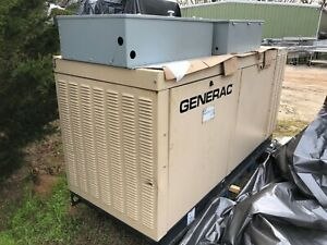 2007 Generac 45 Kw Enclosed Commercial Natural Gas Generator 2 Transfer Switches