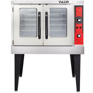 Vulcan Vc5ed 11d1 Single Deck Full Size Electric Convection Oven With Legs