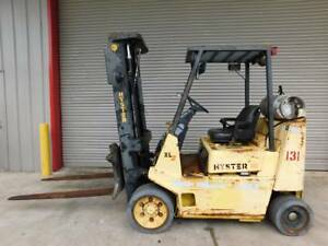 Hyster Lp Gas Propane Forklift S80 7700 Capacity 60 Forks 3 Stage