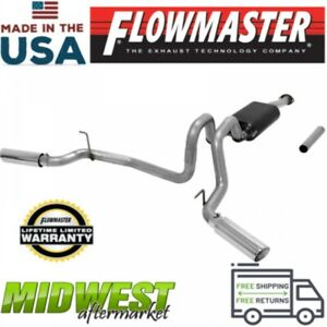 Flowmaster Stainless Cat Back Exhaust System For 2016 2018 Toyota Tacoma 3 5l V6