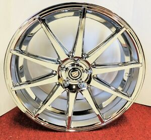 4 Cadillac Chrome Classic 20 X 8 5 Chrome Wheels Fit Most Cadillac