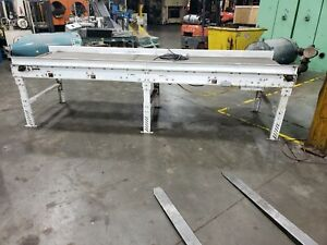 Smooth Flat Belt Conveyor 12 X 38 1 2 120v 1 Phase Adjustable Height 21ge