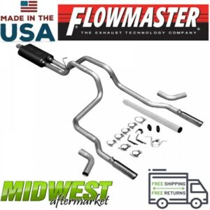 Flowmaster Dual Cat Back Exhaust System Fits 1994 2001 Dodge Ram 1500 5 2l 5 9l