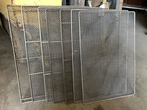 Lot Of 7 Commercial Bakery 25x17 Donut Fryer Frying Doughnut Wire Screens Used