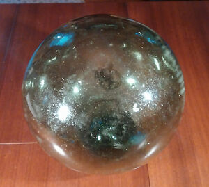 Vintage Japanese Blown Glass Fishing Float Buoy 36 Circumference Authentic