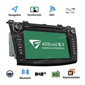 Us 8 Android 8 1 Car Radio Dvd Gps Navigation Touch Screen For Mazda 3 2010 2013