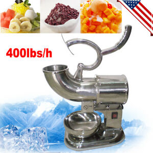 400 Lbs Electric Ice Shaver Machine Snow Cone Maker Shaved Icee Crusher Shaving